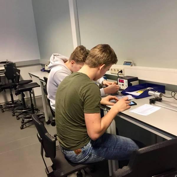 Met BSG-uur naar stralingspracticum Universiteit Utrecht